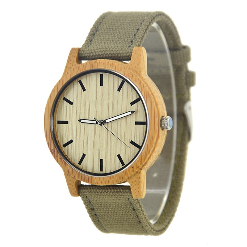 Nylon Strap Wood Watch