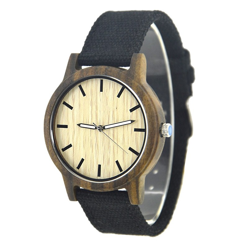 GW-7007 Nylon Strap Wood Watch Custom LOGO