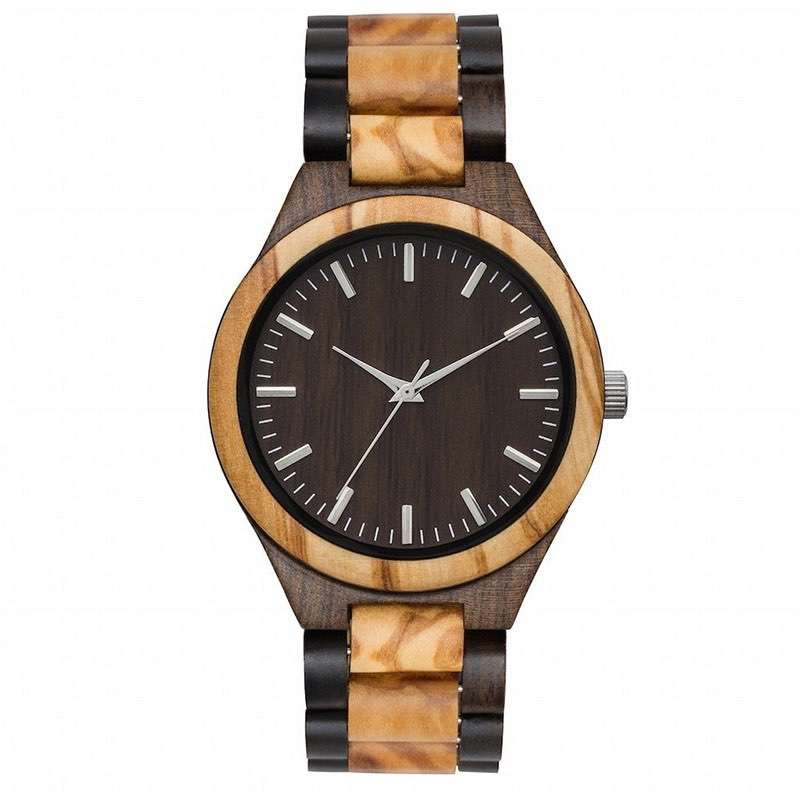 GW-7002 Natural Wood Watch Custom Whole sale