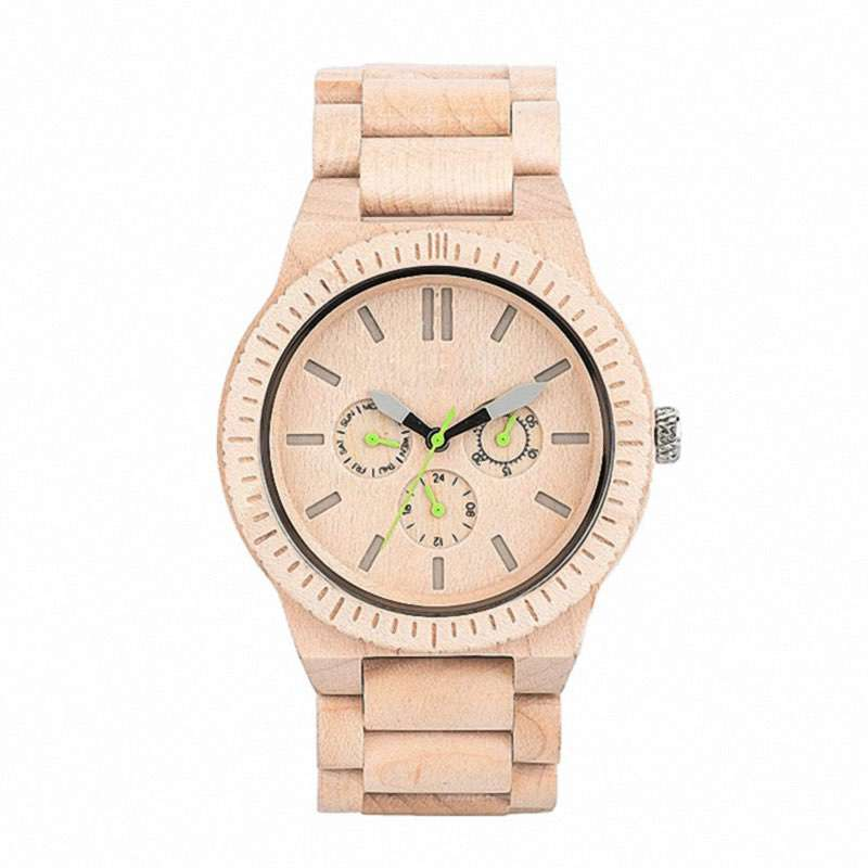 GW-7004 Hand Made Wood Watch Custom LOGO