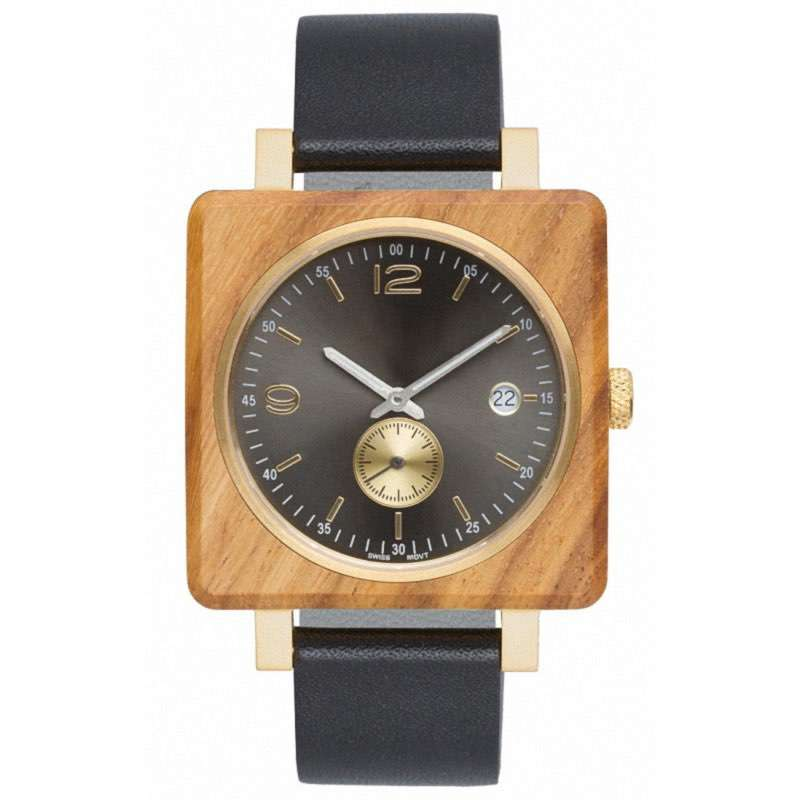 GW-7005 Square Wood Watch Custom LOGO