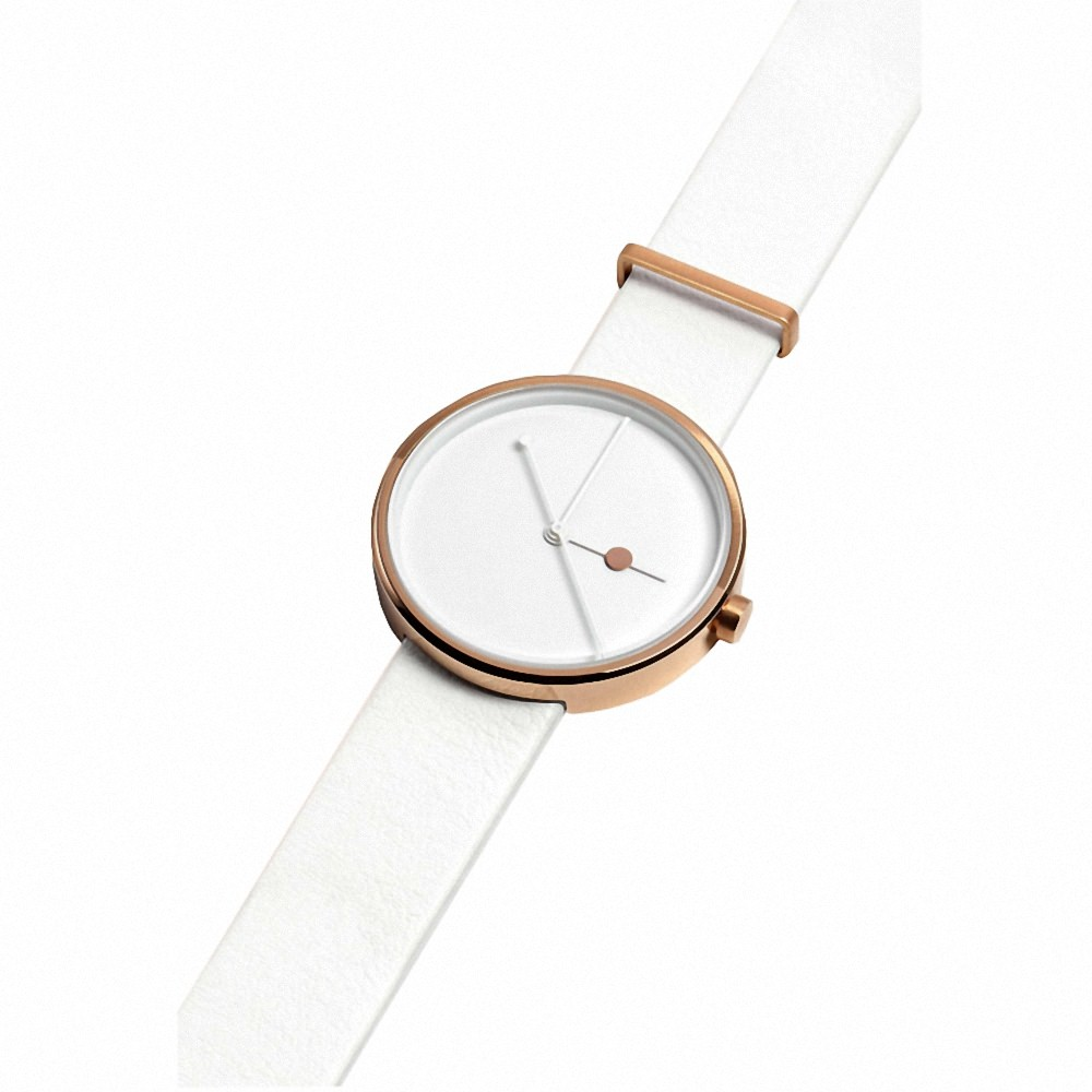 White and Gold Watch Mens