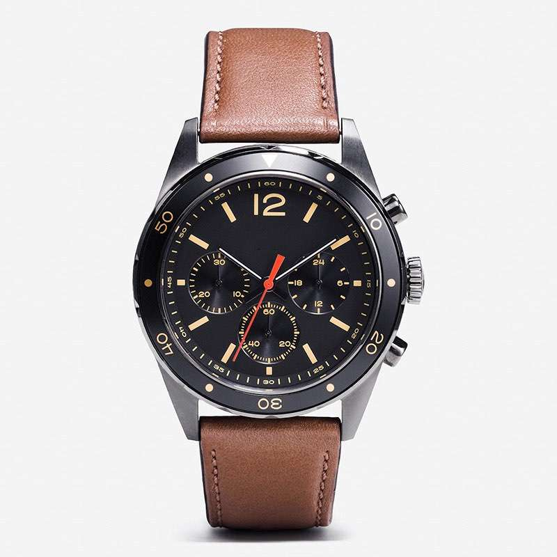 Men Watch Chronograph GM-7025  Leather Strap Custom Watch