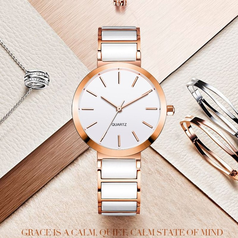 GF-7014 Womens Ceramic Watches Custom LOGO