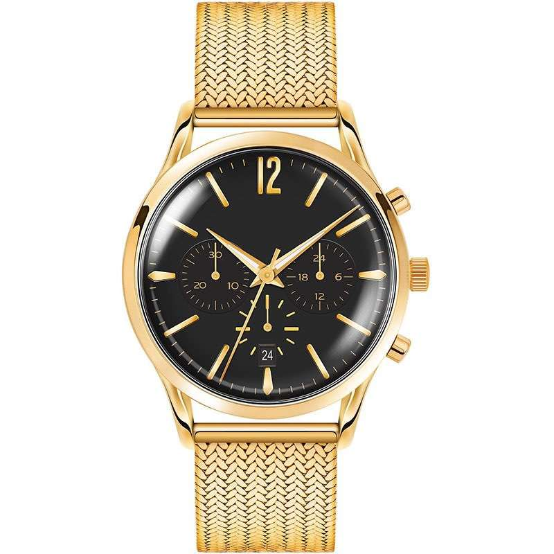Black Gold Watch Mens