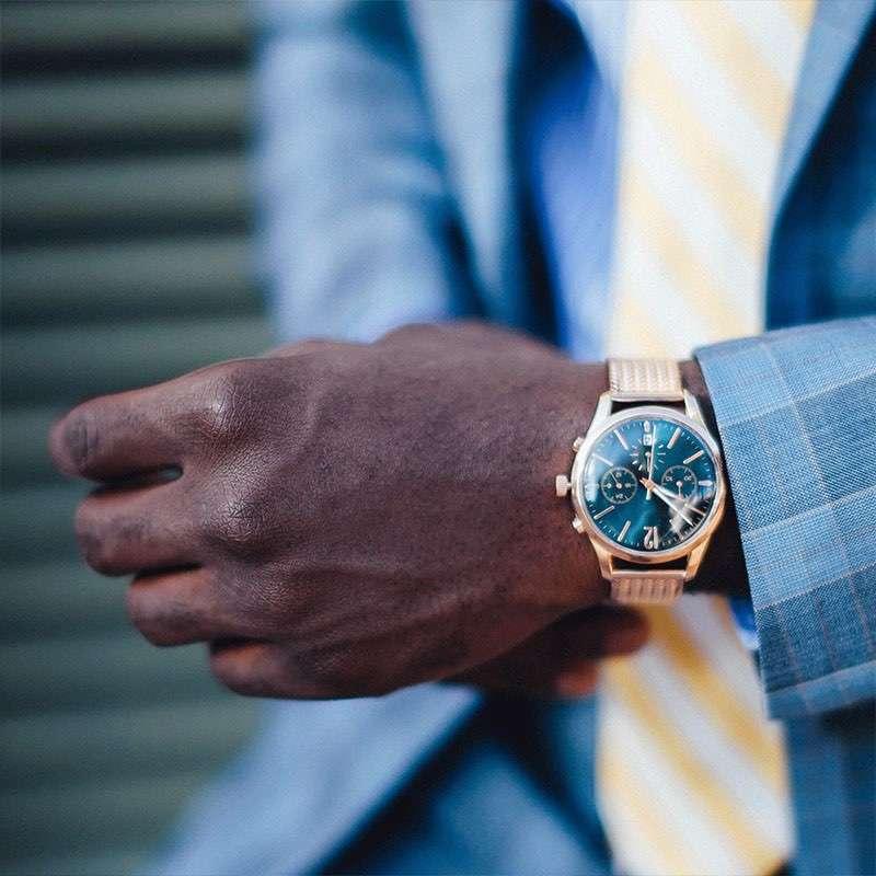 Black Gold Watch Mens