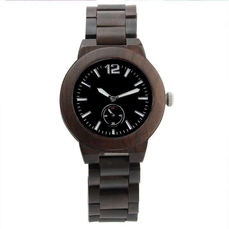 GW-7010 Wood Black Watch Men Custom Logo