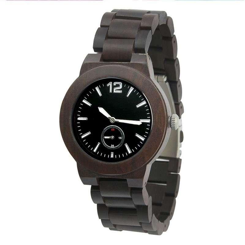GW-7010 Wood Black Watch Men Custom Logo