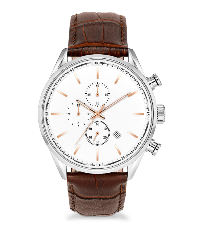 GM-7030 Custom Chronograph Leather Strap Watches For Men