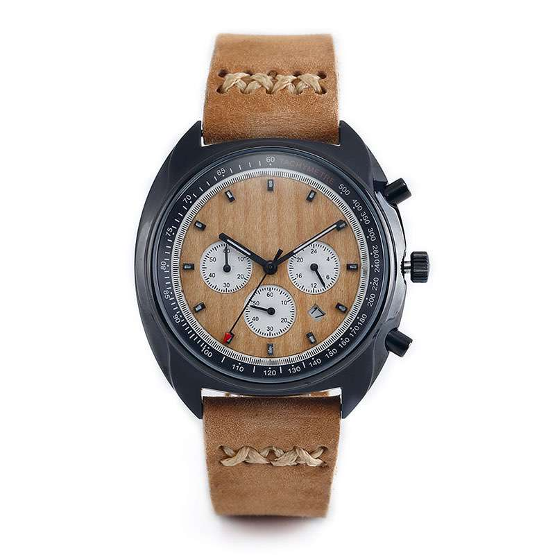 Chronograph Wooden Watches CM-8005 Customize Watches Factory