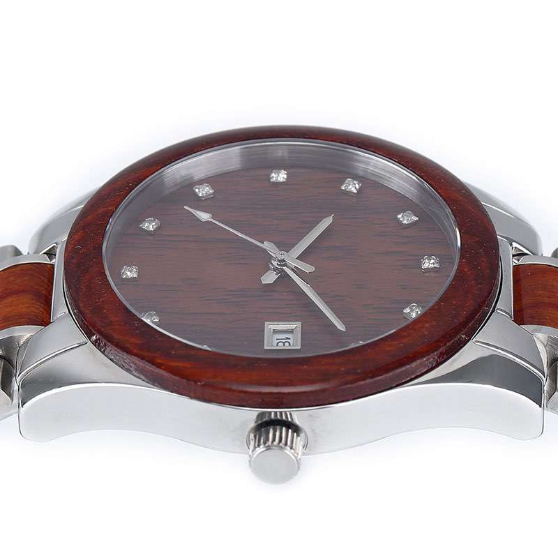 Steel+ Wooden Watches Women GM-7017 OEM Watches For Quality Brand Company