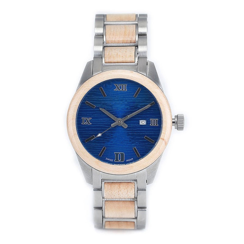 Steel+ Wooden Watches Women GM-7016 Customize Watches For Quality Brand Company Top OEM Watch Factory