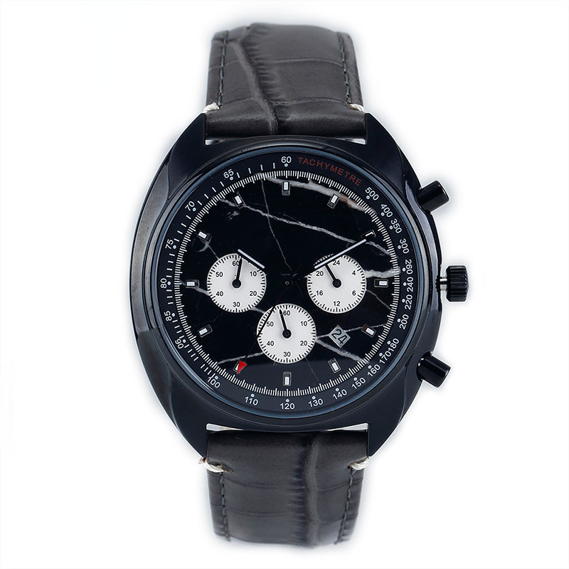 Chronograph Leather Band Watch for Men CM-8011 Customize Top 1 Manufacturer of Chronograph in China
