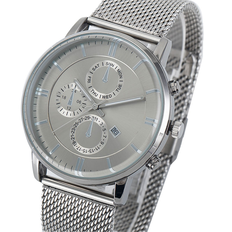 Chronograph Watch Mesh Strap CM-8020 Customize Watch Top One Watch Manufacturer of Chronograph China