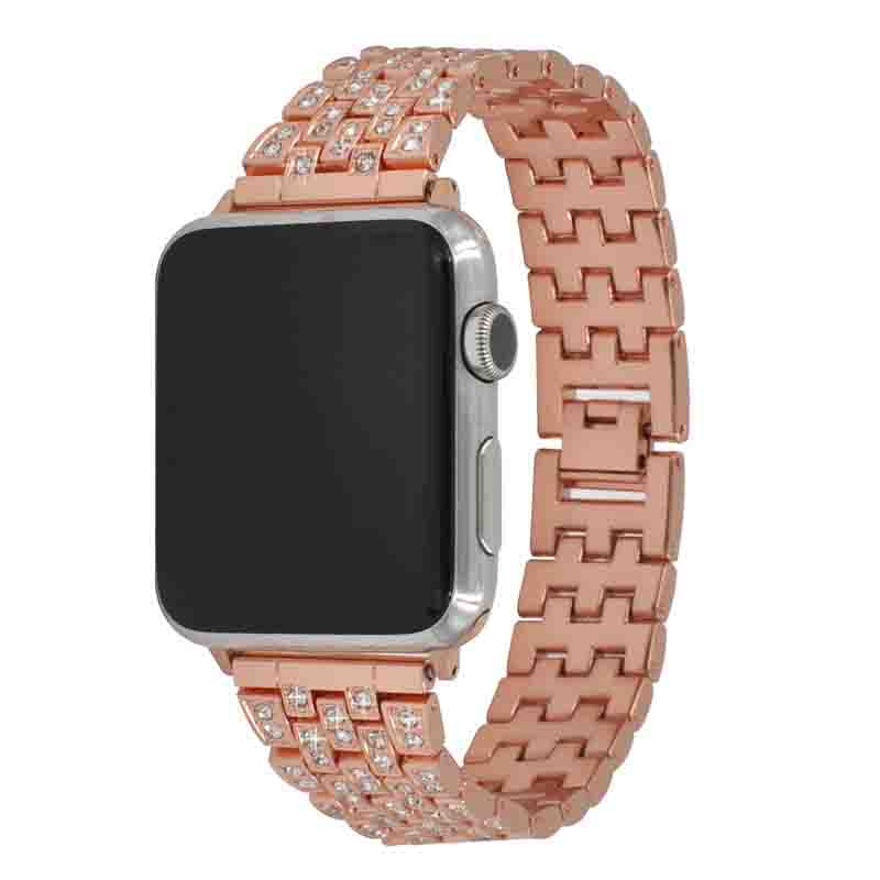 High Quality Factory Price Diamond Apple Watch Strap Accepted In Small Orders Stainless Apple Watch Band