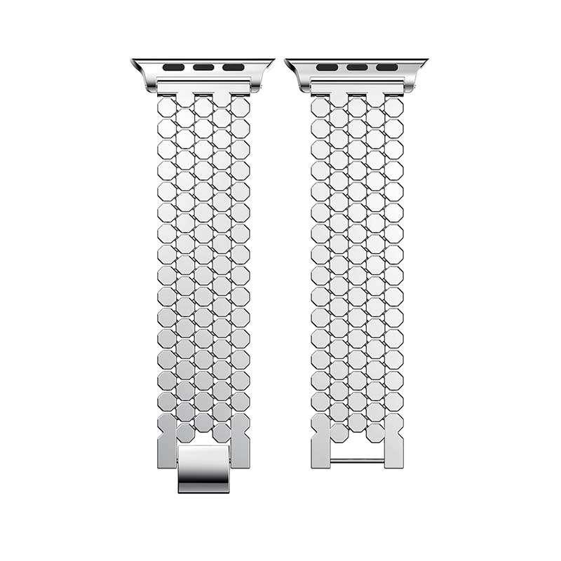 Elegant Design Metal Fashion Band 5 Link Bracelet Stainless Steel Apple Watch Band For Apple Smart Watch Series