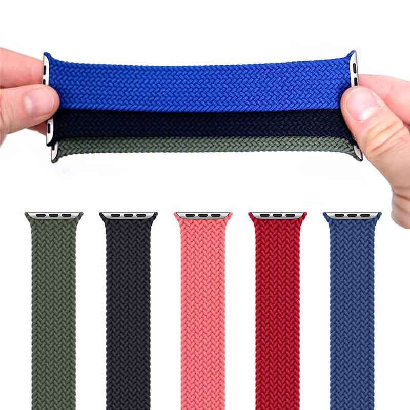 Woven Nylon Apple Watch Band Light Weight Strap With Stainless Steel Buckle Wristband Compatible With Apple Watch
