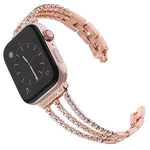 Popular Diamond Stainless Steel Bracelet With Apple Smartwatch Straps Accepts Small Order Quantities Iwatch Metal Strap