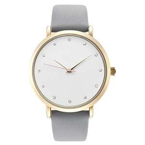 GF-7021 Diamond Hour Mark With Stainless Steel Case Factory Direct Fashion Watch