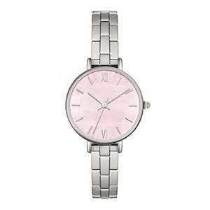 GF-7030 Fashion Style With Pink Dial Quartz Simple Lady Watch