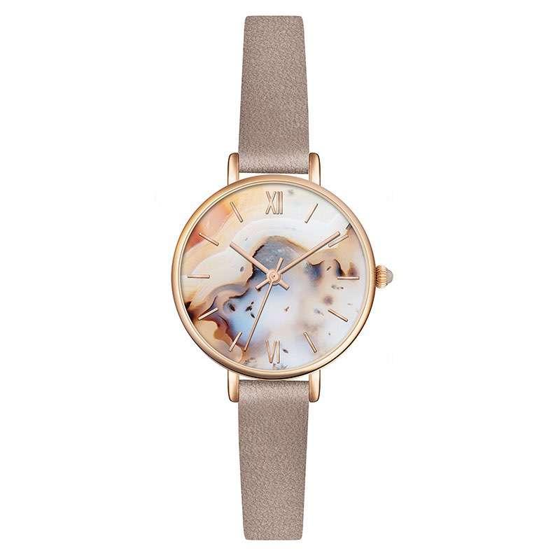 GF-7033 OEM Watch New Hot Ladies Genuine Leather Watch Women Watch Lady Quartz Wrist Watch