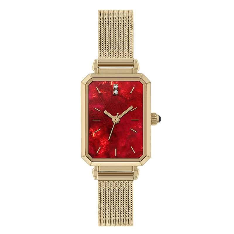 GF-7032 Stainless Steel Ladies Watch Square Shape Slim Wristwatch OEM Watches
