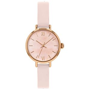 GF-7038 High Quality Ladies Leather Watch Pink Sweet Style Watch Rose Gold Case Watch Chinese Watch Factory