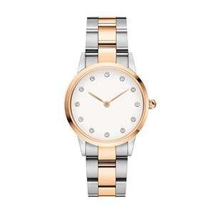 GF-7044 Diamond Hour Mark Watch Double Colors Watch Band Luxury Modern Lady Watch OEM Custom Logo Watch