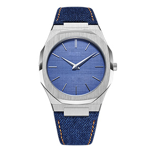 GM-8011 Quartz Watches Japan Movement Steel Color Case With Blue Dial Watch  Custom Men's Watches