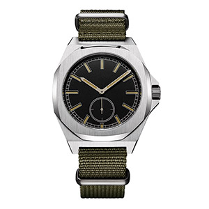 GM-8012 316L Stainless Steel Nylon Band Watch Boy Fashion Hand Watch Custom Mens Watches