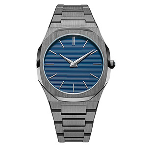 GM-8013 Gun Color Stainless Steel Watch For Man China Watch Factory Custom Men Watch