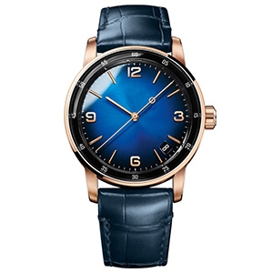 GM-8014 Luxury Blue Military Men Watches Minimalist Quartz Watches Leather Wristwatches Custom Logo Watch