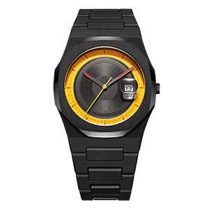 GM-8023 Full Of Design Watch Black Case And Band Watch For Man Custom Made Watch China