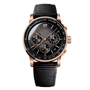 CM-8043 Business Black Dial With Ross Gold Index Nylon Watch Band Custom Men's Chronograph Watches