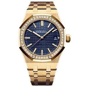 GF-7049 New Fashion Women Watch Rose Gold Luxury Diamond Wristwatch Delicate Classic Style Bracelet Private Label Lady Watch