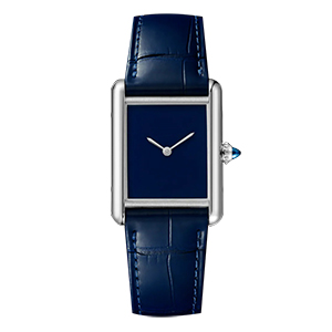 GF-7063 Women' s Watch Blue color Stainless Steel Square Shape Quartz Watch With Leather Strap China Custom Brand Watch Factory