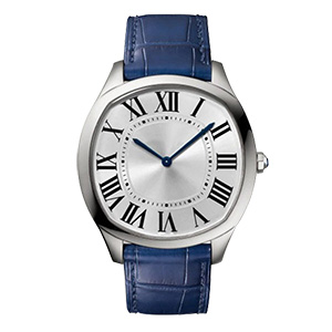 GM-8028 Fashion Business Watch For Man Navy Blue Band Stainless Steel Quartz Watch Factory In China