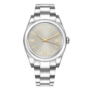 GM-8049 Steel Color With 3D Hour Effect Mens Watch Simple Style Good Quality Watch Manufacturer In China
