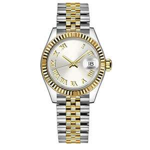 GF-7072 Stainless Steel Ladies Watch Fashion Style Silver And Gold Color Band Accept Customization Factory In China