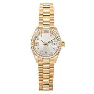 GF-7071 Whole Gold Color Ladies Watch With Diamond Bezel Top Quality Stainless Steel Quartz Watch Custom Logo