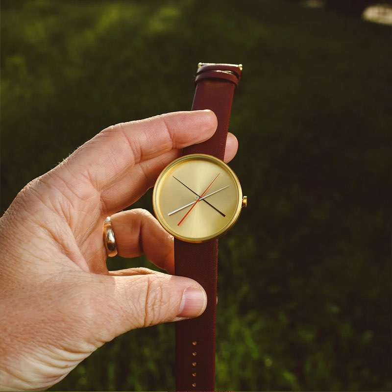 Crossover Brass leather watch  (5)
